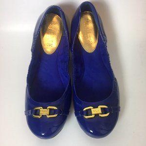 Ralph Lauren Blue Betty Ballet Flats Size 8